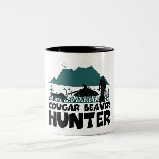 Funny cougar Two-Tone coffee mug