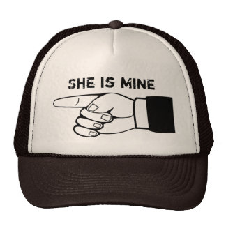Funny couple hat, x2 ,HE/SHE is mine,edit text Trucker Hat