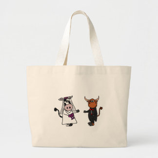 Funny Cow and Bull Wedding Tote Bags