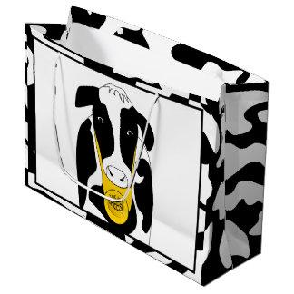 Funny Cow Big Cheese Boss LGB Large Gift Bag