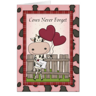 Funny Cow Birthday Delivery Greeting Card