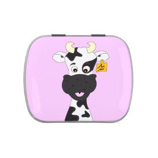 Funny cow cartoon girls