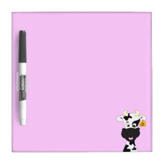 Funny cow cartoon girls dry erase board