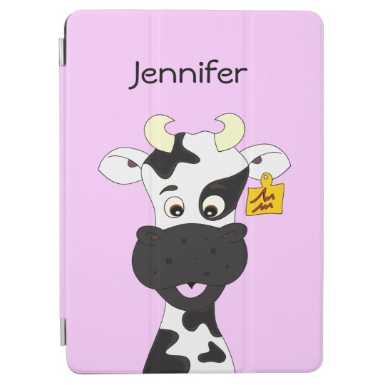 Funny cow cartoon girls iPad air cover