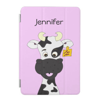 Funny cow cartoon girls iPad mini cover