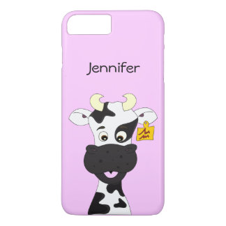 Funny cow cartoon girls iPhone 7 plus case