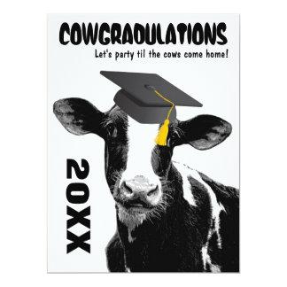 "Funny Cow Graduation Congratulations 6.5"" X 8.75"" Invitation Card"