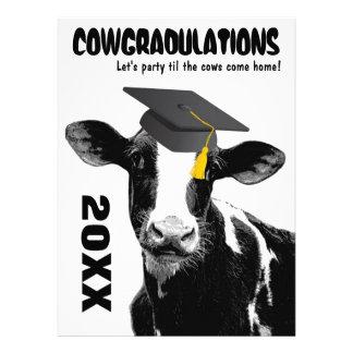 Funny Cow Graduation Congratulations Personalized Invitations