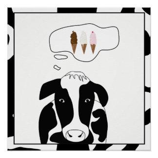 Funny Cow Ice Cream 20x20 Poster