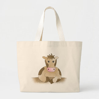 Funny Cow Large Tote Bag