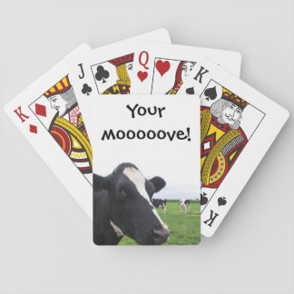 Funny Cow Moo Humourous Farm Barn Animal Cattle Playing Cards