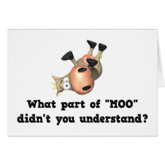 Funny cow notecards card