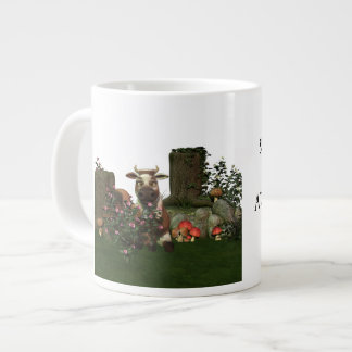 "Funny Cow Pun ""Something in the way she moos.."" Large Coffee Mug"