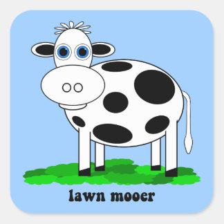 funny cow square sticker