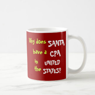 Funny CPA Tax Christmas Joke USA Coffee Mug
