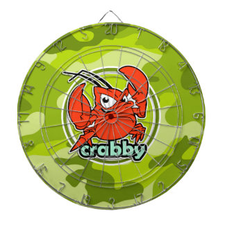 Funny Crab bright green camo camouflage Dartboard With Darts