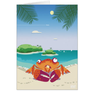 Funny Crab Greeting Card