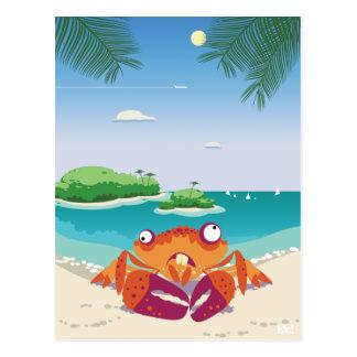 Funny Crab Postcard
