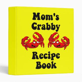Funny crabs recipe 3 ring binder