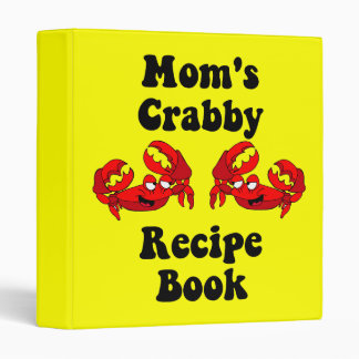 Funny crabs recipe vinyl binder