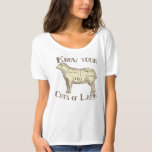 Funny Craft Know your cuts of lamb Tshirt