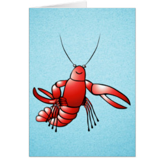 Funny Crawfish Lobster Card