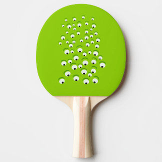 Funny Crazy and Curious Green Eyed Monster Ping Pong Paddle