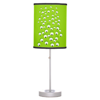 Funny Crazy and Curious Green Eyed Monster Table Lamp