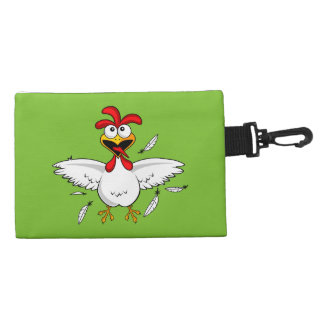 Funny Crazy Cartoon Chicken Wing Fling Accessories Bags