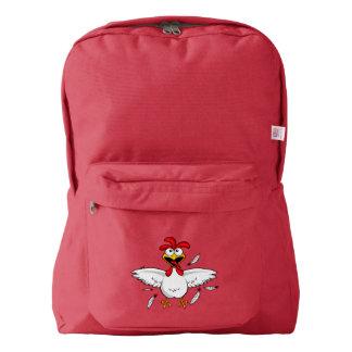 Funny Crazy Cartoon Chicken Wing Fling Backpack