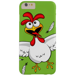 Funny Crazy Cartoon Chicken Wing Fling Barely There iPhone 6 Plus Case
