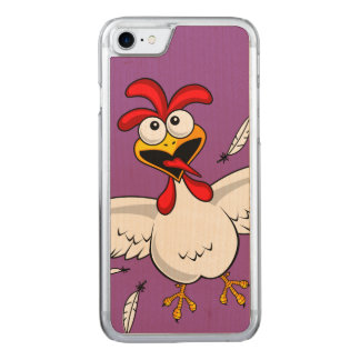 Funny Crazy Cartoon Chicken Wing Fling Carved iPhone 7 Case