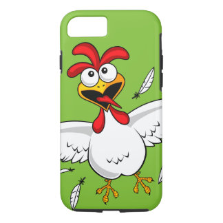 Funny Crazy Cartoon Chicken Wing Fling iPhone 7 Case