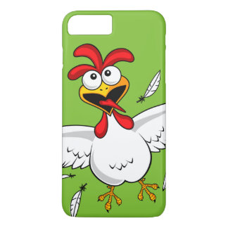 Funny Crazy Cartoon Chicken Wing Fling iPhone 7 Plus Case