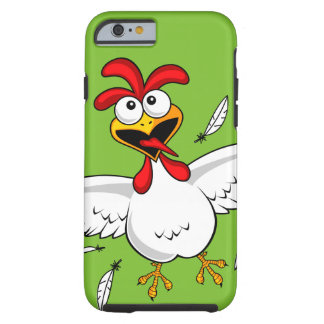 Funny Crazy Cartoon Chicken Wing Fling Tough iPhone 6 Case