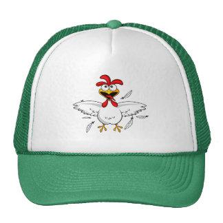 Funny Crazy Cartoon Chicken Wing Fling Trucker Hat