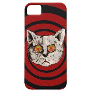 funny crazy cat iPhone 5 case