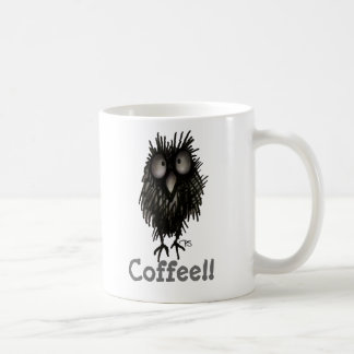 Funny Crazy Cute Coffee Paul Stickland Owl Coffee Mug