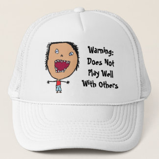 Funny Crazy Face Kid Art Trucker Hat