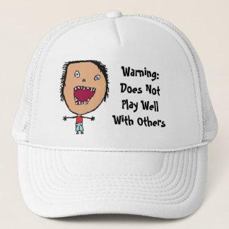 Funny Crazy Face Kid Art Trucker Hat