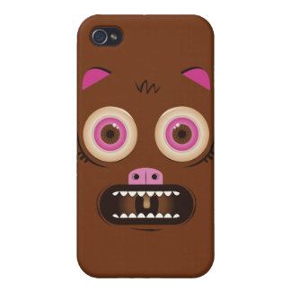 Funny crazy monster iPhone 4/4S cases