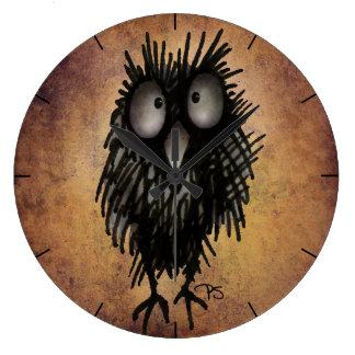 Funny Crazy Night Owl Wallclocks
