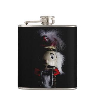 Funny Creepy Nutcracker Hip Flask