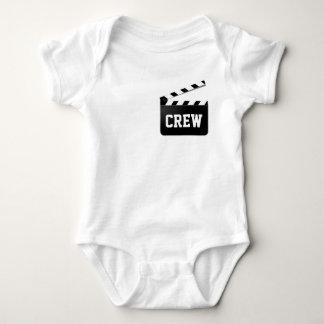 Funny Crew Typography Black White Clapperboard Baby Bodysuit