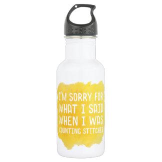 Funny Crochet Stitch 532 Ml Water Bottle