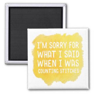 Funny Crochet Stitch Magnet