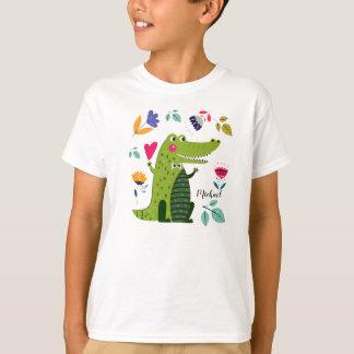 Funny Crocodile Custom Kids T-Shirts