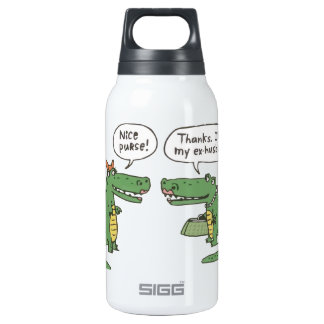 Funny Crocodile Insulated Water Bottle