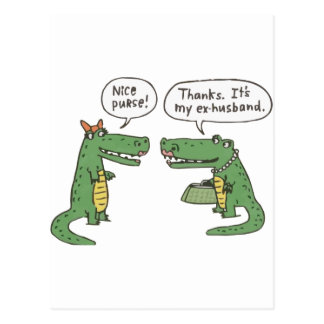 Funny Crocodile Postcard
