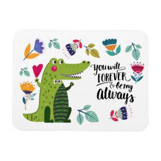Funny Crocodile Valentine's Day Gift Magnet